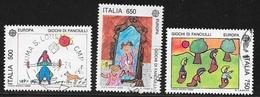 N° 1810 A 1812   -  EUROPA  ITALIE  -   OBLITERE  -  1989 - 6. 1946-.. Republic