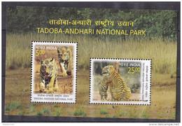 INDIA, 2016,  Tadoba-Andhari-National Park, Tiger,Tigers, Fauna Cub,   Miniature Sheet, MNH, (**) - India
