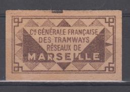 FRANCE - 3 Tickets Des Tramways Reseaux De Marseille - Tramways
