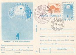 PARACHUTTING, PARACOMANDER PARACHUTE, PC STATIONERY, ENTIER POSTAL, 1996, ROMANIA