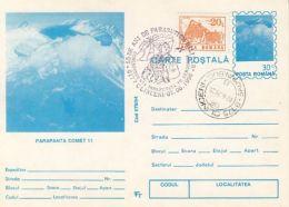 PARACHUTTING, COMET 11 SKYGLIDER, PC STATIONERY, ENTIER POSTAL, 1996, ROMANIA