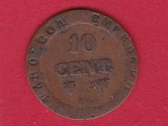 France 10 Centimes Premier Empire Fausse Pour Servir - France