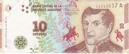 BILLETE DE ARGENTINA DE 10 PESOS DEL AÑO 2016 (BANKNOTE) - Argentina