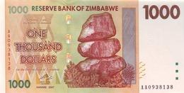 ZIMBABWE 1000 DOLLARS 2007 P-71 UNC  [ZW162a] - Zimbabwe