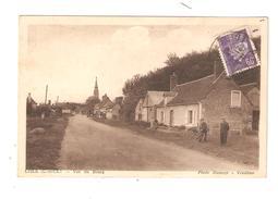 CPA 41 LISLE Vue Du Bourg Animation Maisons Clocher 1943 - Autres Communes