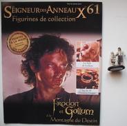 Figurine Le Seigneur Des Anneaux N°61 / Frodon Et Gollum à La Montagne Du Destin - Le Seigneur Des Anneaux