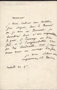 Autographe D'Adolphe Thiers TB ( Lettre Signé ) - Autographes
