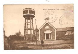 CPA 02 MONTBREHAIN Le Temple Temple Chateau D'eau Maisons église Au Fond 1934 - Autres Communes