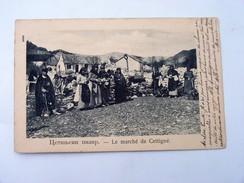 CPA MONTENEGRO : Le Marché De CETTIGNE, Timbre 1903 - Montenegro