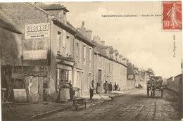 14/ Sannerville - Route De Caen - Trés Belle Carte Trés Beau Plan - - France