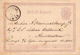 10 JAN 1871 Tweeletter ZUTPHEN Op Bk Naar Amsterdam - Marcofilia