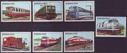 F-EX3385 BURKINA FASO COMPLETE SET MNH 1985 RAILROAD RAYLWAYS TRAIN LOCOMOTIVE. FERROCARRIL. TREN. LOCOMOTORA. - Burkina Faso (1984-...)