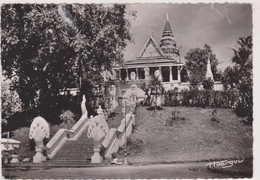 ASIE,ASIA,EX INDOCHINE FRANCAISE,CAMBODGE,PHNOM PENH,PAGODE,TEMPLE
