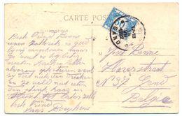 Zichtkaart Van Paris (Fr) Naar Gent (15 Juli 1922) Getaxeerd Taxe 30 Ct Tx N° 30 - Taxes