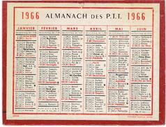CALENDRIER CARTONNE 1966 IMPRIMEUR OBERTHUR - Calendriers