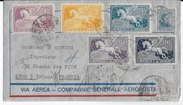 1930 - URUGUAY - ENVELOPPE RECOMMANDEE AIRMAIL AEROPOSTALE De MONTEVIDEO Pour LYON - Uruguay