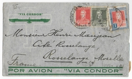 1935 - ARGENTINE - ENVELOPPE AIRMAIL CONDOR Pour ROSSELANGE (MOSELLE) - Covers & Documents
