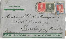 1935 - ARGENTINE - ENVELOPPE AIRMAIL CONDOR Pour ROSSELANGE (MOSELLE) - Argentina