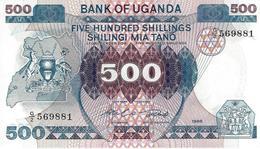 Uganda (BOU) 500 Shillings 1986 UNC Cat No. P-25a / UG128a - Uganda