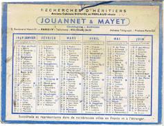 CALENDRIER CARTONNE 1969 JOUANNET ET MAYET - Calendriers