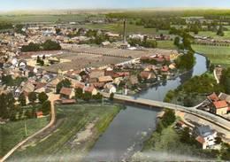 CPSM - ERSTEIN (67) - Vue Aérienne Sur Le Bourg , Les Usines Et Le Pont Sur L'ILL Dans Les Années 50 / 60 - Autres Communes