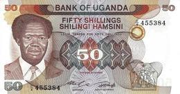 UGANDA 50 SHILLINGS ND (1985) P-20 UNC  [UG124a] - Uganda