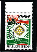 "Bénin 2007 (ROTARY - Variété ""Invertion Surcharge 715F Au Lieu De 175F/250F) - Luxe ** - BdF  RARISSIME (Super PROMO) - Rotary, Lions Club"