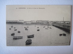 CPA Noirmoutier Le Port Et Le Quai De L Herbaudière T.B.E.  19.. Animée Bateaux - Noirmoutier