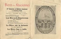 A243- Alcool - La Biere - Bieres Des Alsaciennes -gdes Brasseries Et Malteries Alsaciennes D Angouleme -charente-