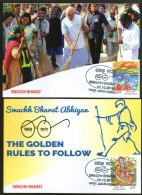 India 2016 Mahatma Gandhi Swachh Bharat Abhiyan Rules To Follow Max Cards # 8001