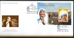 India 2016 Saint Mother Teresa Canonization Nobel Prize M/s On FDC # 18189