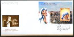 India 2016 Saint Mother Teresa Canonization Nobel Prize M/s On FDC # F3092 - Mother Teresa