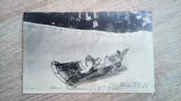 Cpa Carte Photo 📷 Bobsleigh Empereur Guillaume II ⛷ Ski Hiver Sport - Winter Sports