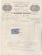 GUEURES ( Seine Infre ) : Facture Illustrée De La Manufactures De Cierges Et Bougies Dites Dieppoises - 1800 – 1899