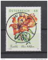 """Österreich 2016: """"Feuerlilie"""" Gestempelt (siehe Foto/Scan) - 2011-... Gebraucht"""