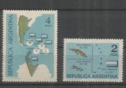 ARGENTINA MAPA ANTARTIDA ARGENTINA E ISLAS MALVINAS - Filatelia Polar