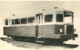 Régie Des Chemins De Fer Départementaux De La Côte D'Or; Autorail Berliet N°A1 (retirage Photo Format Carte Ancienne).. - Trains