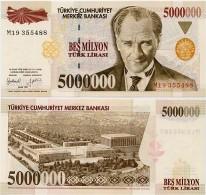 TURKEY        5,000,000 Türk Lirasi        P-210       1.1997        UNC  [ 5000000 ] - Turchia