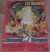 AFFICHE CINEMA ORIGINALE FILM L'ODYSSEE D'UN SERGENT Lee MARVIN 1968 Vera MILES KULIK BELINSKY 60 X 80 - Posters