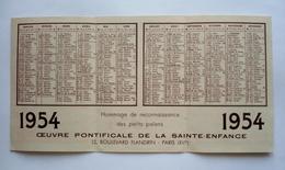 Calendrier1954 - JAPON - émule De GUILLAUME TELL -  INDES- Faites-en Autant- Oeuvre Pontificale De La Sainte Enfance - Calendriers