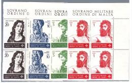 SOVRANO MILITARE ORDINE DI MALTA  1967 SAN GIOVANNI  QUARTINA NUOVI - Malte (Ordre De)