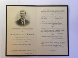 Image Religieuse - Auguste GUERIN, Décès Le 9 Juin 1903 à Nueil Sous Les Aubiers (28 Ans) - Devotion Images