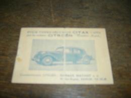 Citroën Traction Avant Et Ami 6, 2 Anciennes Publicités Format Carte Postale (Garage Mathot Namur Et Paquet-trotin)