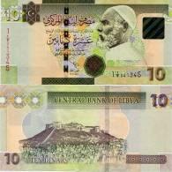 LIBYA        10 Dinars        P-73A        17.2.2011 (2012)         UNC  [uppercase Letters] - Libië