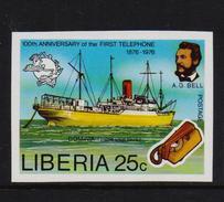 Liberia 1976, Ship, Unperf. Minr 1000b, MNH. Cv 3,50 Euro - Liberia