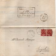1902 LETTERA CON ANNULLO BRESCIA + PAVONE DEL MELLA - Storia Postale