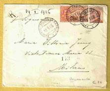 1926 Rare Lettre Expresse Avec Vignette ACIREALE COMITATO Di MOBILITAZIONE CIVILE 2 Cmi - 1900-44 Vittorio Emanuele III