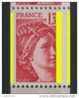 """FRANCE - -  1,30 ROUGE SABINE """"3 PHOSPHO"""" -  N° Yvert 2063** - 1977-81 Sabine Van Gandon"""