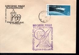 POLOGNE  Lettre  1960   Poste  Espace Satellite - Europa