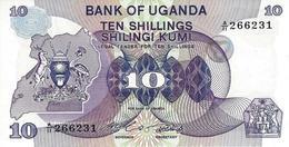 UGANDA 10 SHILLINGS ND (1982) P-16 UNC PREFIX A/11 [UG120a] - Uganda